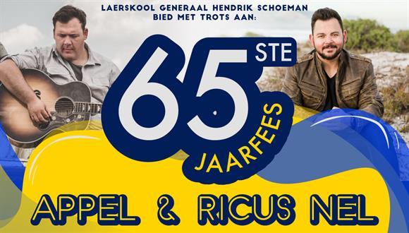 GHS se 65ste jaarfees met gaskunstenaars Apple en Ricus Nel.Allerlei stalletjies...