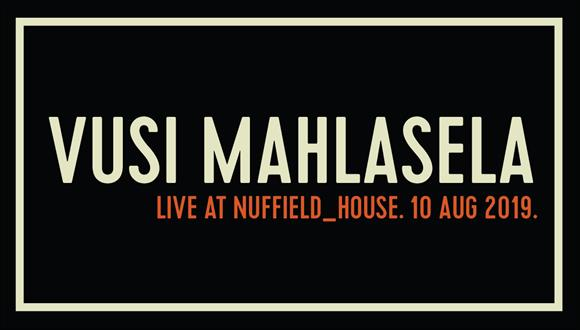 Vusi Mahlasela Live at Nuffield_House 