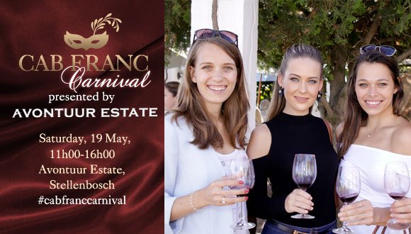 On Saturday, 19 May 2018, the Cabernet Franc Carnival takes place at scenic Avon...