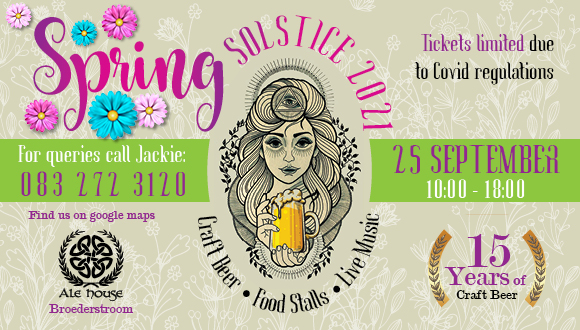 We are celebrating 15 years of Solstice at The Ale House in Broederstroom on 25 ...