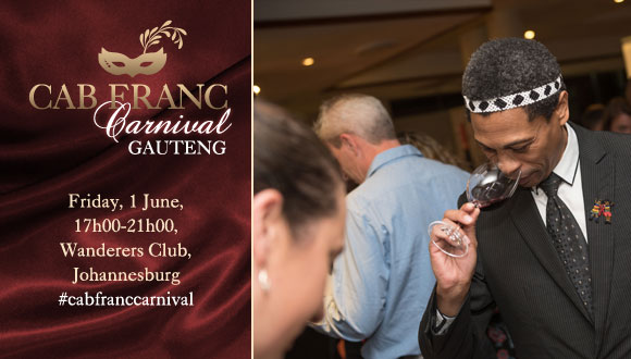 Unfortunately the Cabernet Franc Carnival will not take place in Gauteng in 2018...