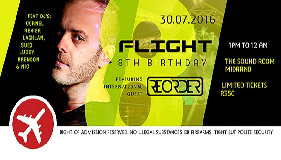 * Flight's 8th birthday party ** FEATURING INTERNATIONAL GUEST REORDER! ** THE S...