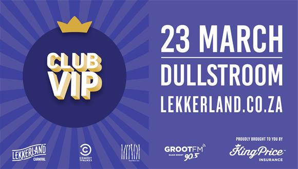 Buy your ticket to the limited access CLUB VIP now for only R650. The access is ...