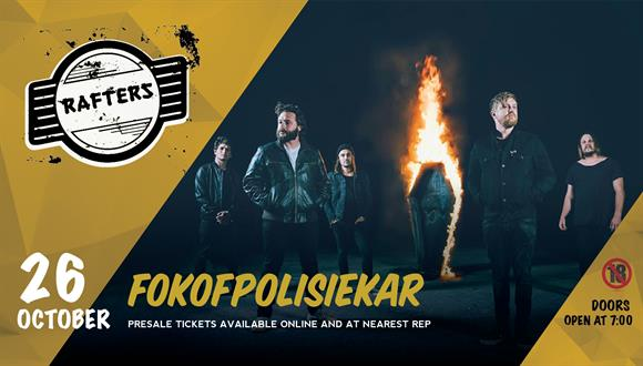 Fokofpolisiekar was formed in 2003 when a group of friends from Bellville (South...
