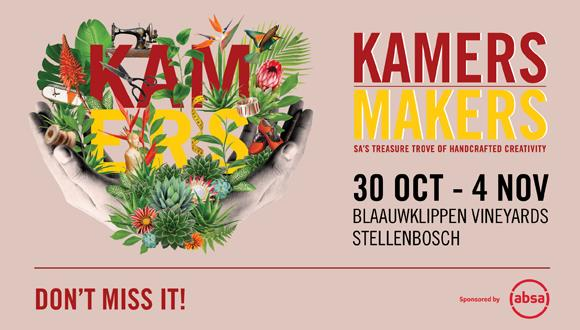 Brand new venue for KAMERS/Makers Stellenbosch show!SA's number one celebration ...
