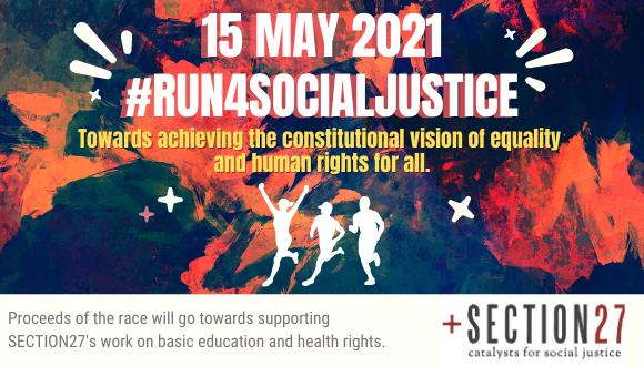 The SECTION27 virtual #run4socialjustice is back for a second race!The #run4soci...