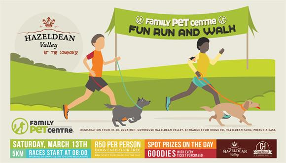 We are hosting another dog fun run / walk!There will be a 5km course to run or w...