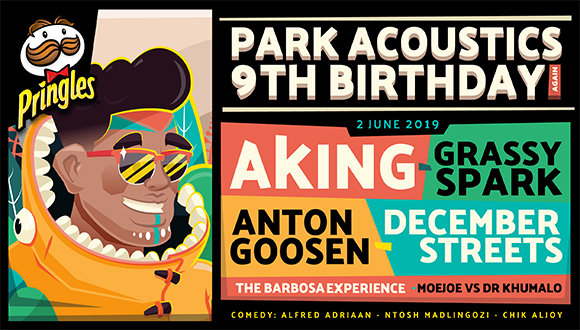 Park Acoustics and Pringles celebrates 9 years of Parks with a legendary line up...
