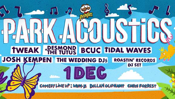 Park Acoustics & Pringles proudly presents the final Parks of 2018 with Tweak, D...