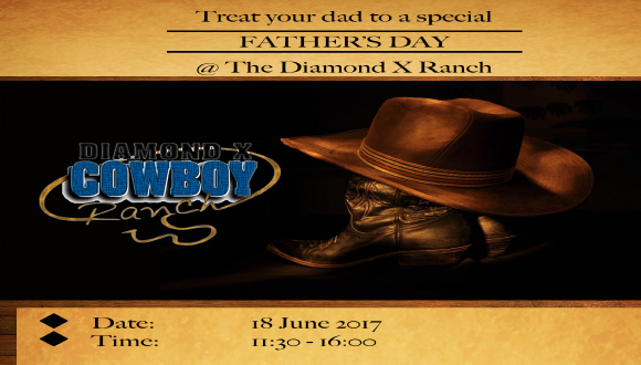 Treat your dad to a special Fathersday @ Diamond X Cowboy Ranch. And yes, he sec...