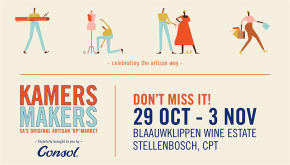 KAMERS/Makers Stellenbosch 2019 Show SA's number one celebration of proudly loca...