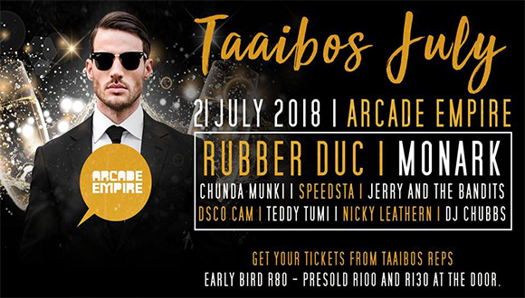 House Taaibos is proud to present the 7th annual Taaibos July▂▂▂▂▂▂▂Main Stage🎉...
