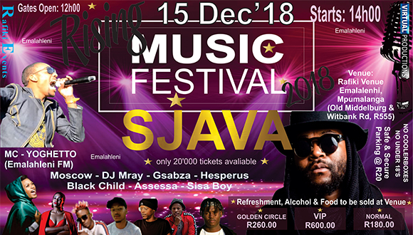 Ending of this year with a Bang... Music Award winner Sjava will perform with hi...