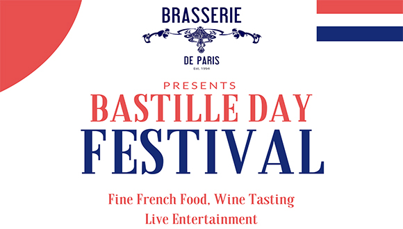 Get your red, white and blue regalia ready for this year's Bastille day Festival...