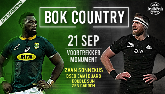 Rassie's Warriors presents Bok Country, sponsored by Devil's Peak. We will be li...