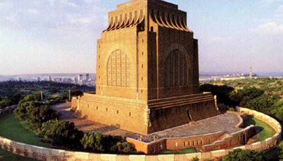 Die majestueuse Voortrekkermonument is in die noordelike deel van Suid-Afrika, i...