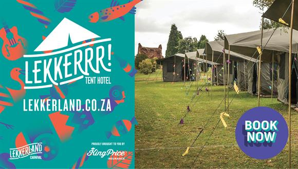 CAMPSITE BOOKING INFORMATION – Lekker LandACCOMMODATION Camping Package: 2 Night...
