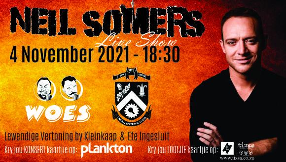 Kom geniet 'n prettige aand gevul met musiek deur die talentvolle Neil Somers, g...
