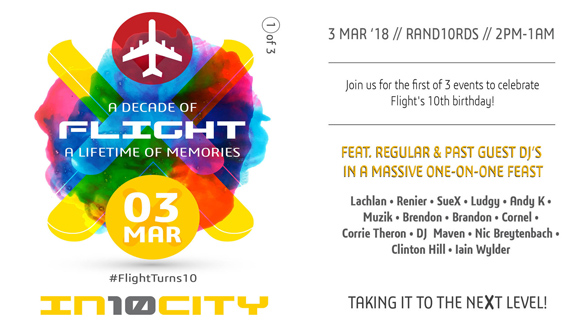 * FlightIn10City // 3 March 2018 // Randlords // 14:00-01:00 **** The first of 3...