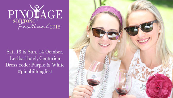 The Pinotage and Biltong Festival  takes place on Saturday, 13 October (Internat...