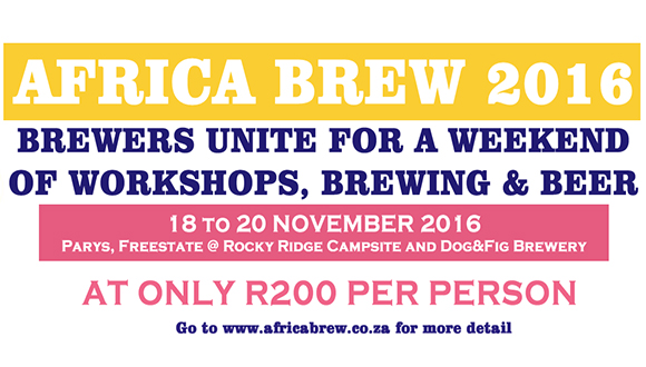 Africa Brew is the FIRST EVER weekend long craft beer festival in South Africa. ...