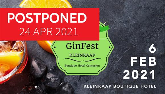 Join the fun the 6th of February 2021 at Kleinkaap's GinFest!15 CRAFT GIN STALLS...