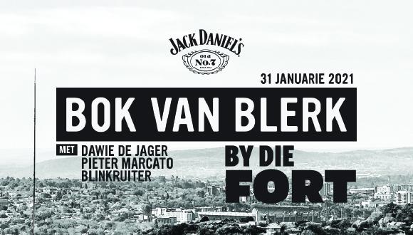 Jack Daniel's bied met trots aan Bok van Blerk By Die Fort saam met vriende Dawi...