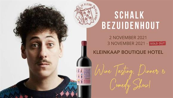 Join us for a fun evening of wine tasting, dinner and a hilarious comedy show by...