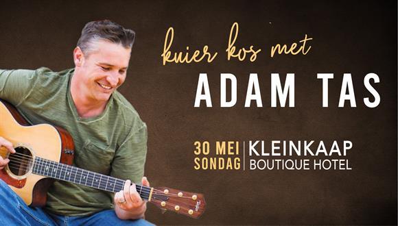 Kom geniet musiek in die tuin deur die talentvolle Adam Tas met Kleinkaap se hee...