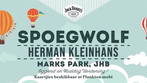 Spoegwolf piekniek konsert by Marks Park, Johannesburg.Saam met Herman Kleinhans...